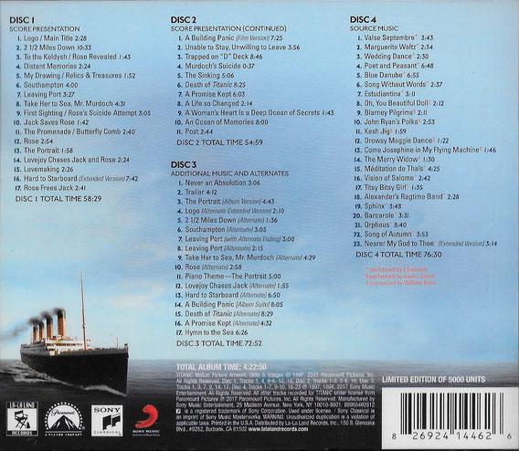 titanic 20th anniversary edition soundtrack 2017 james